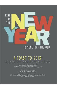 New Year Party Invitation // cardstore.com