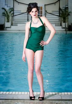 Bathing Beauty One Piece in Emerald, #ModCloth