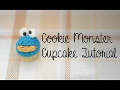 ▶ Cookie Monster Cupcake Tutorial (Polymer Clay) - YouTube
