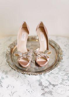 Valentino pink bridal shoes.