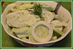 Sweet Tea and Cornbread: Creamy Cucumber Salad!