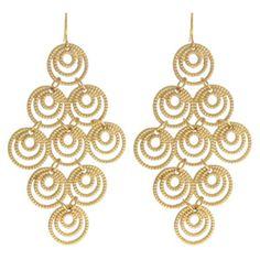 Gold chandelier earrings $18.00