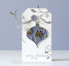 Pam Sparks Lydia Ornament Snowflake Sprig