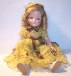 Vintage Effanbee Patricia Composition Doll All Original with Clothing