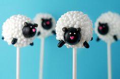 Easter Lamb Pearl Cake Pops