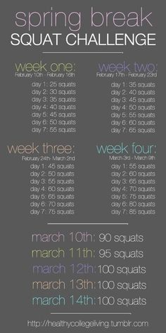 fit, bodi, challenges, squat challenge, squats, spring break, challenge accepted, health, workout
