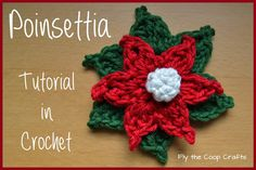 Fly the Coop Crafts: Poinsettias: A Crochet Tutorial, amazing!! thanks so for great share xox crochet flower, christma crochet, crochet tutorials, coop craft, crochet christmas, crochet poinsettia, christmas sweaters, christma knit, crochet patterns