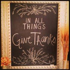 Thanksgiving Chalkboard #thanksgiving #homedecor #easy