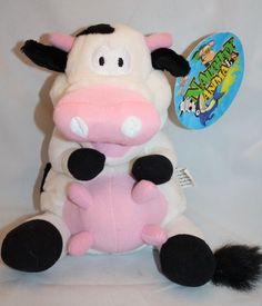"Dave and & Busters Plush Cow Giggling Vibrates Shakes 8"" Stuffed Naughty Animal"