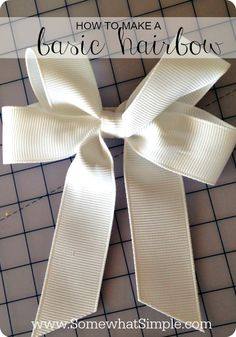 Somewhat Simple: Basic Bow Tutorial {Video}