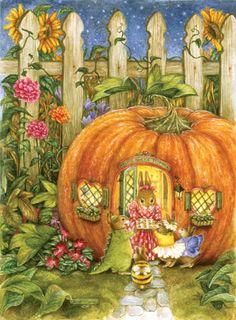I love Susan Wheeler ponds, pumpkin, halloween sweets, cottages, artist, susan wheeler, sweet home, treat, holli pond
