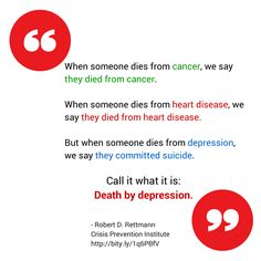 Maybe the one thing we can take away from Robin Williams' death is to remember that depression can kill.