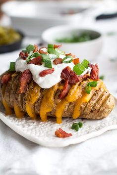 Loaded Hassleback Potatoes | halfbakedharvest.com