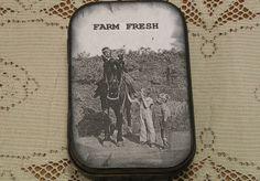 Altered Altoid Tin FARM FRESH by strangenotions on Etsy, $10.95