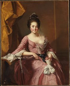 ATTN: Net lace, shuttles, scissors, and work bag. Portrait of a Woman  Joseph Wright (Wright of Derby)  Date: ca. 1770