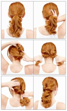 How To Styling a Topsy Tail - this is what they call a Topsy Tail... For busy women. Kind of different than just sticking your hair into a pony tail.
