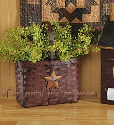 We only have one Burgundy Market Basket with Rusty Star left in stock and was featured in our ad in Country Sampler Magazine.  This is a discontinued item and will not be available again.