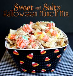 Sweet and Salty Halloween Munch Mix