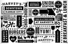 Harvey's at Union Station identity by Tad Carpenter Creative