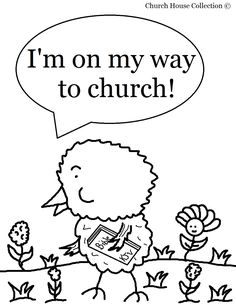 "Easter Chick Coloring Page For Sunday School Kids- ""Chick On His Way To Church"" Coloring Page"