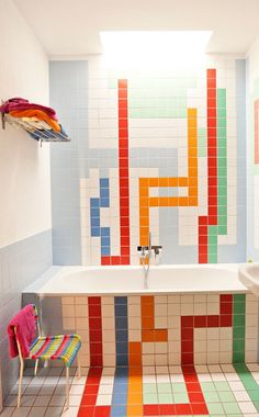 the selby: christoph niemann Handmade tiles can be colour coordinated and customized re. shape, texture, pattern, etc. by ceramic design studios