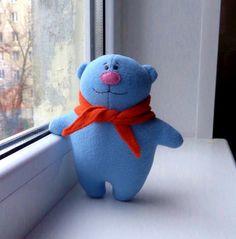 Teddy bear toy Blue Stuffed Bear PlushieAnimal toy for di ZooToys, $17.99