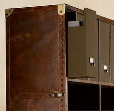 Mayfair Steamer Secretary Trunk Vintage Cigar Leather