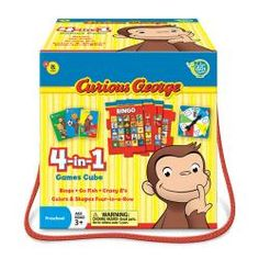 Curious George 4-in-1 Games Cube $19.99