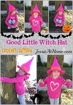 Good Little Witch Child Hat ~ Free Crochet Pattern
