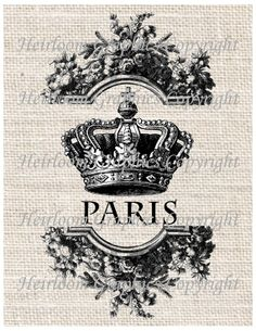 French Words Paris Crown