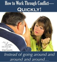 Stop going 'round and 'round and start working through conflict quickly!