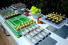 tennis themed garden party