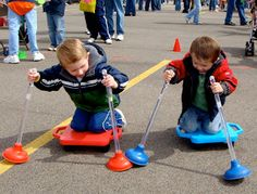 diy carnival games - Look at this pic though...great for UB strengthening & B coordination! And fun to boot!
