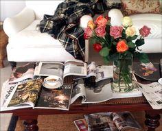 dream day sunday morning, lazi sunday, dream, coffee, roses, magazines, lazy sunday, mornings, flower