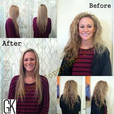 Global Keratin hair taming treatment BEFORE and AFTER.