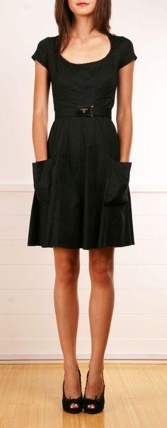 Black Dress with Pockets.