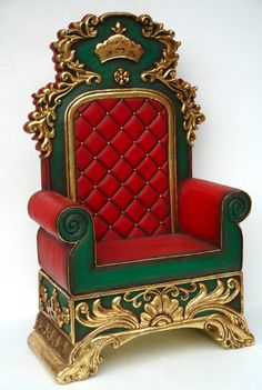 Santa Chair Resin by santaswardrobe.com