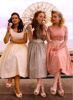 gorgeous for bridesmaids Fashion, Friends, Vintage, Bridesmaid Dresses, Photos Shoots, Ice Cream, The Dresses, Icecream, 50S Dresses