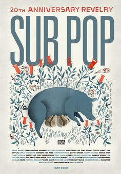 Poster and graphics for Sub Pop Music Festival.