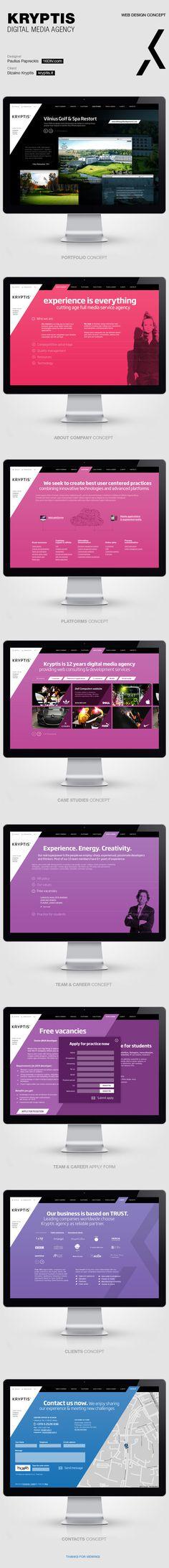 Kryptis web design concept by Paulius Papreckis, via Behance #design, #UI, #UX, #interface, #experience