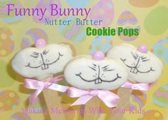 Funny Bunny Nutter Butter Cookie Pops