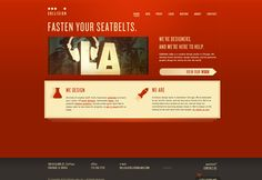 I love the red on this design company's site #website #webdesign #design #web #creative