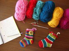 Christmas socks pattern-free