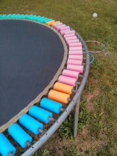 If we ever get a trampoline, this is a good idea.