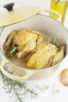 Cornish Hens with Rosemary & Lemon. #food #poultry #dinner