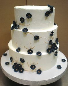 Navy Blue Flowers