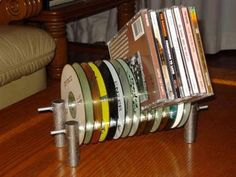 recycl, cd rack, cd holder, idea, useful crafts