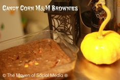 Candy Corn M Brownies #SocialFabric #Cbias