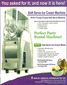 Soft Serve Ice Cream Machine...to go with the rootbeer keg...