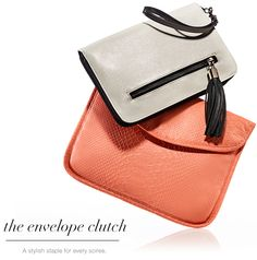 A stylish spring staple coral clutch, spring stapl